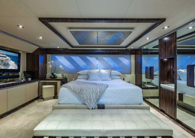 Dreamy stateroom aboard the 2009 Dominator '95
